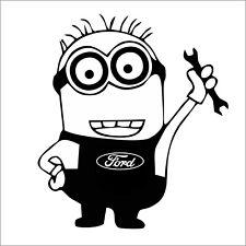 Ford Minion Autoaufkleber Decal Tuning Shocker Sticker JDM