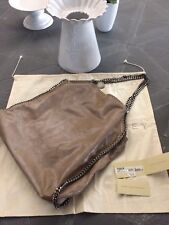 STELLA MCCARTNEY FALABELLA BORSA SAC BIG TOTE DUE CATENE CAMMELLO HANDTASCHE