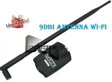 ADATTATORE WIRELESS WI-FI USB AMPLIFICATORE ANTENNA 9dBi WIFI 54Mbps mshop