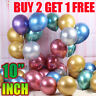 "10"" Metallic Latex Balloons Chrome Bouquet Wedding Birthday Party Supplies UK"