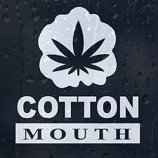 Cannabis Leaf Marijuana Smoking Weed Cotton Mouth Funny Car Decal Vinyl Sticker