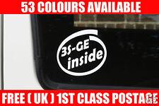 2x 3SGE dentro de la etiqueta engomada. para (no Turbo) Toyota Celica ST202/ST162/ST182