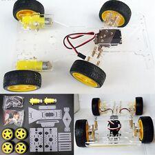 DIY Steering Engine 4 wheel 2 Motor Smart Robot Car Chassis Kit For Arduino