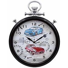 Sports Car Pit Stop Watch Design Wall Clock Quartz Time Hallway Kitchen Display