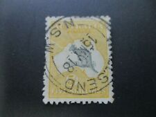 Kangaroo Stamp: 5/- Yellow 2nd Watermark Used  - Great Item   (j217)