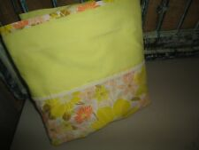 SPRINGMAID YELLOW GREEN MELON FLORAL QUEEN FLAT SHEET 90 X 115