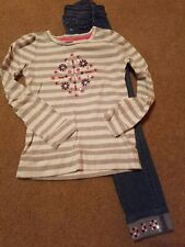 Gymboree Outfit Sequins Shirt Skinny Jeans 7