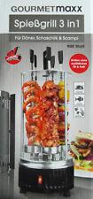 Gourmetmaxx Spießgrill 900W 3 in 1 Für Döner, Schaschlik & Scampl Neu