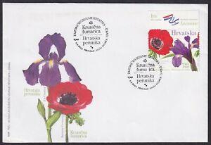 Croatia, 2017-09-04, Israel Joint Issue, Flowers, Iris, FDC