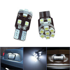 2x White T10 3528 13 SMD 1210 LED Bulbs For Auto Car License Plate Lights Charm