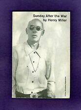 Henry Miller SUNDAY AFTER THE WAR Anais Nin D.H. Lawrence SEX Rosy Crucifixion