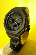 Casio G-Shock GA-2100-1A1ER with quick closing custom bracelet new + tag