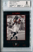2004 Inscribed Black Border Red MICHAEL VICK Rare Atlanta Falcons SP #/5 BGS 8