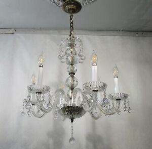 Antique Vintage Chandelier Crystal Elegant Hanging Crystal Balls Hollywood