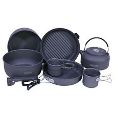 Proforce Equipment 22900 Ndur 9 Piece Cookware Mess Kit Kettle Camping