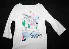 New Gymboree City by the Bay Gem Tee White Top 6 Year  NWT Stripes & Anchor