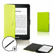 Forefront Cases Green Smart Shell Case Cover for Amazon Kindle Voyage + Stylus