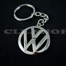 VW CHROME KEY CHAIN KEY RING Keychain Keyring GOLF PASSAT JETTA TIGUAN TOURAN