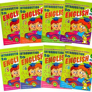 Pre School Activity Workbooks English Writing Phonics Letter Building 8 Books