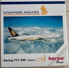 Herpa 1:500  Singapore Airlines    777-200    -   511124        Jubilee