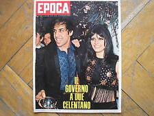 CELENTANO CLAUDIA MOORS PERIOD #1015 1970 SANREMO CHI NON LAVORA NON FA L'AMORE