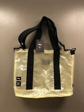 Stussy x Herschel large tote shoulder bag clear opaque yellow pvc