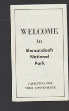 Welcome to Shenandoah National Park Luray Virginia 1957 Brochure