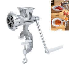 Aluminum Manual Meat Grinder Steel Blade Hand Crank Sausage Mincer Kitchen Tool