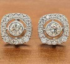 Screw Back Earring Vintage Earring 0.5ct Round Diamond Earring