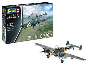 Revell Messerschmitt Bf110 C-2/C-7 1:32 Scale Model Aircraft Kit #04961