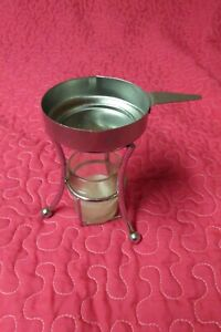 3 BUTTER WARMERS- glass candle holder w/ metal butter holder
