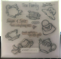 Close To My Heart My Acrylix Stamp Set D1149 Tea Party Little Girls Scrapbooking