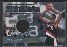 QYNTEL WOODS 2003/04 TOPPS CHROME GAMETIME GEAR GAME JERSEY BLAZERS SP $12