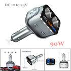 Car Double Cigarette Lighter Dual Usb Port Socket Splitter Power Convert Adapter