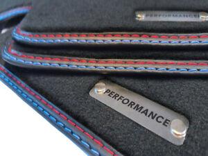 Performance Fußmatten für BMW 3er E46 hervorragende Qualität Velours  Logo