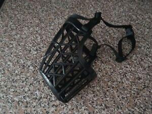 Trixie Black Plastic Enclosed Muzzle XL 31cm