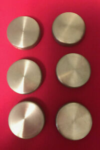 Bullseye Office - Set of 6 Modern Stainless Steel Round Refrigerator Magnets