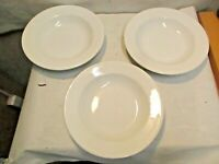 "3 vintage Wedgewood Royal Stone China 9"" White Bowls that are in good shape - NR"