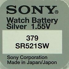 Sony Watch Batteries x2 Cell Silver-Oxide 1.55v-379 SR521SW S56 618 AG0 SR63 0%