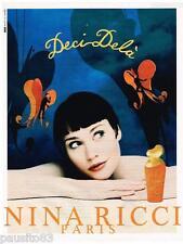 PUBLICITE ADVERTISING 095  1997  NINA RICCI parfum DECI DELA  par JEAN LARIVIERE