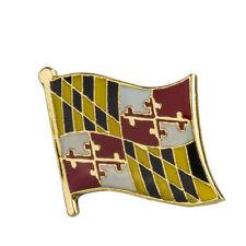 Hat Tie Tack Badge Pin Free Shipping Maryland Flag Lapel Pin 19 x 16mm