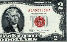 1963 $2 US Note *** Red Seal *** # A14527869A