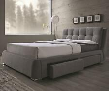 Coaster 300523Q Fenbrook Grey Fabric Upholstered Storage Queen Bed