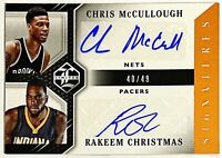 2015-16 Limited Chris McCullough Rakeem Christmas Dual Auto RC #d 40/49 Syracuse