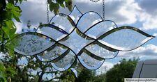 Bleiverglasung Bleiglas Facetten- Fensterbild eisblumiert in Tiffany