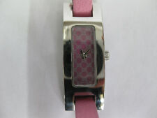 Ladies Gucci Stainless Steel Pink Strap GG Dial 3900L #1017