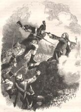 NEW YORK. The assault on Stony Point c1880 old antique vintage print picture
