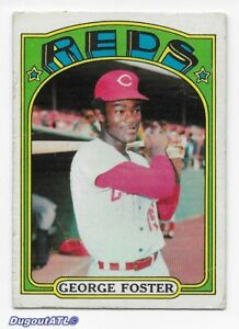 ⚾️ 1972 ~ Topps #256 ~ George Foster ~ Reds ~ Good=2