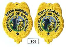 Dealer Dave Patches: PAIR OF NORTH CAROLINA DEPARTMENT CORRECTIONS, BADGE (206)