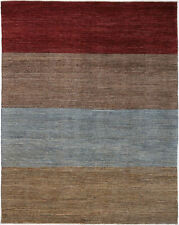 9X12 Hand-Knotted Gabbeh Carpet Tribal Red Fine Wool Area Rug D39658